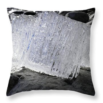 Throw Pillow featuring the photograph Ice On Rocks 2 by Sami Tiainen