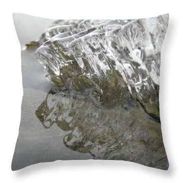 Throw Pillow featuring the photograph Ice On Water 1 by Sami Tiainen