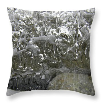 Throw Pillow featuring the photograph Ice On Water 2 by Sami Tiainen