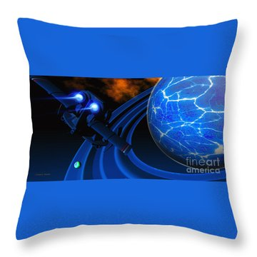 Ice Planet Throw Pillow by Corey Ford