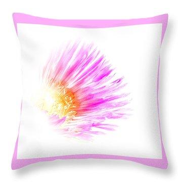 Ice Plant Flower Throw Pillow