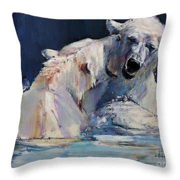 Ice Play Throw Pillow