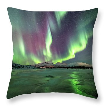 Ice Reflection II Throw Pillow