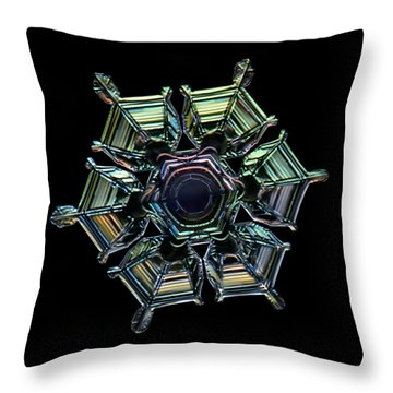 Ice Relief, Black Version Throw Pillow