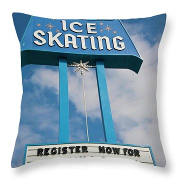 Throw Pillow featuring the photograph Ice Skating 2 by Matthew Bamberg