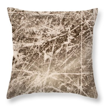 Ice Skating Marks Throw Pillow