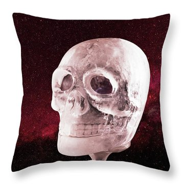 Ice Skull Throw Pillow