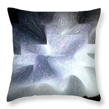Ice Throne Abstract Throw Pillow by Aliceann Carlton