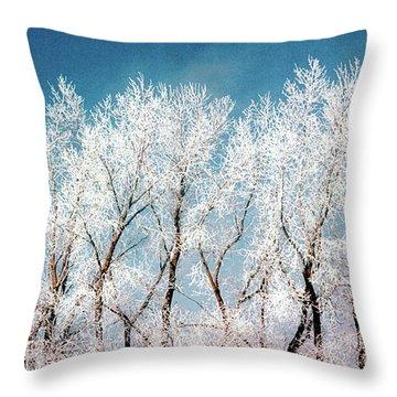 Ice Trees Throw Pillow