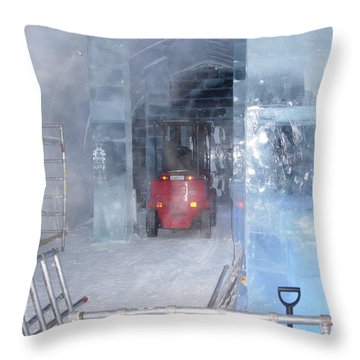 Ice Truck Throw Pillow by Maria Joy