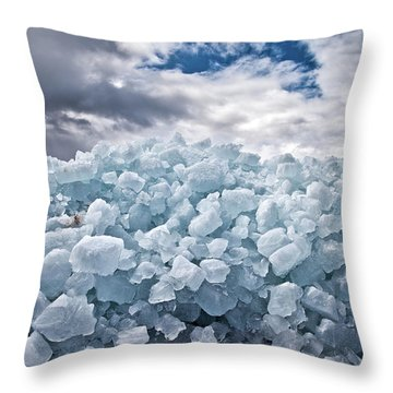 Ice Wall Throw Pillow by Brian Boudreau