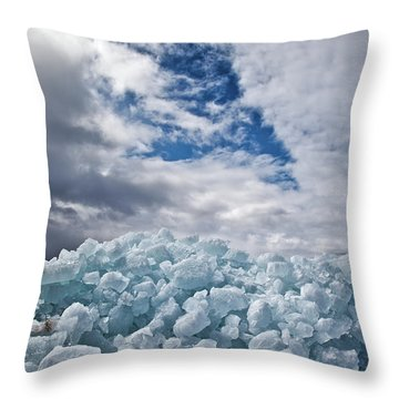 Ice Wall II Throw Pillow by Brian Boudreau