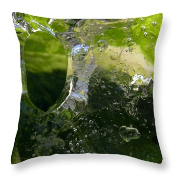 Throw Pillow featuring the photograph Ice Window by Sami Tiainen