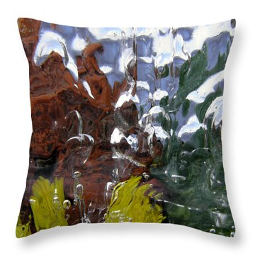 Throw Pillow featuring the photograph Ice World 1b by Sami Tiainen
