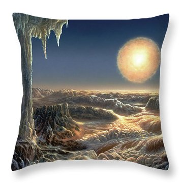 Ice World Throw Pillow by Don Dixon