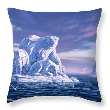Icebeargs Throw Pillow
