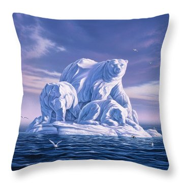 Icebeargs Throw Pillow