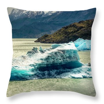 Throw Pillow featuring the photograph Iceberg by Andrew Matwijec