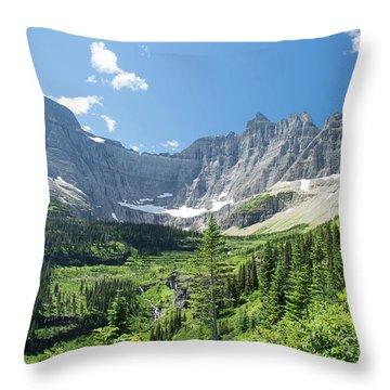 Iceberg Lake Trail - Glacier National Park Throw Pillow