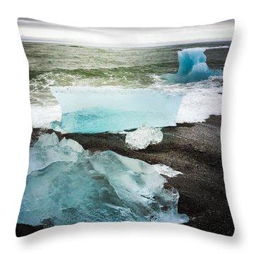 Iceberg Pieces Jokulsarlon Iceland Throw Pillow