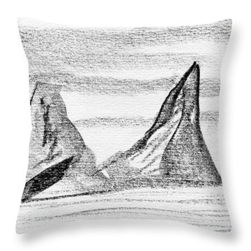 Icebergs Throw Pillow by R Kyllo