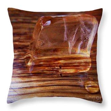 Icecube Trail Throw Pillow