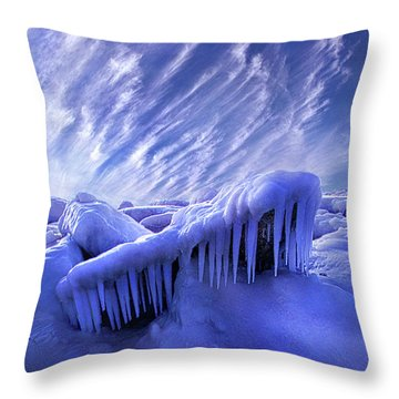 Throw Pillow featuring the photograph Iced Blue by Phil Koch