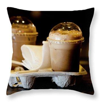 Iced Caramel Coffee Throw Pillow