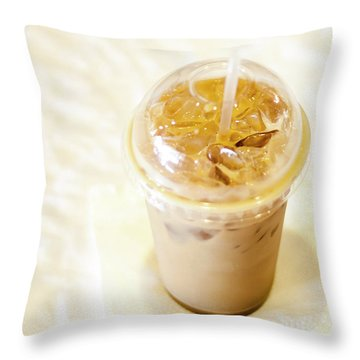 Iced Coffee 1 Throw Pillow