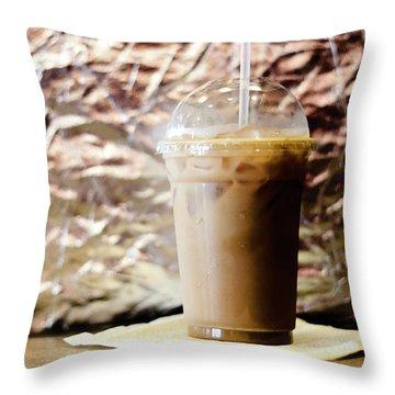 Iced Coffee 2 Throw Pillow