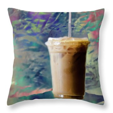 Iced Coffee 3 Throw Pillow