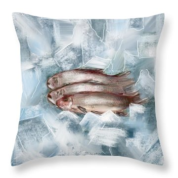 Iced Fish Throw Pillow