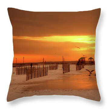 Iced Sunset Throw Pillow
