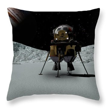 Icefield Landing Throw Pillow by David Robinson