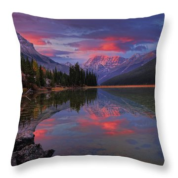 Icefields Parkway Autumn Morning Throw Pillow