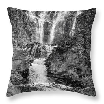 Icefields Waterfall Throw Pillow