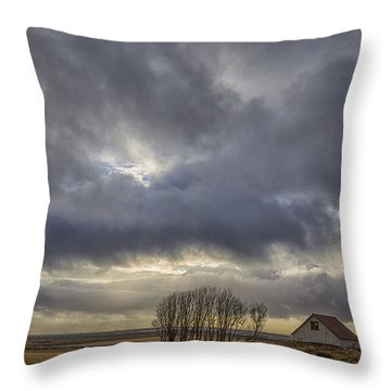Iceland Buildings Throw Pillow