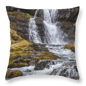 Iceland Fjord 2 Throw Pillow by Kathy Adams Clark