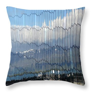 Throw Pillow featuring the photograph Iceland Harbor And Mountains by Joe Bonita