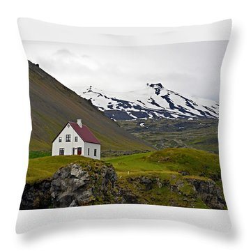 Throw Pillow featuring the photograph Iceland House And Glacier by Joe Bonita