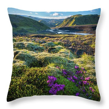 Iceland Moss Throw Pillow