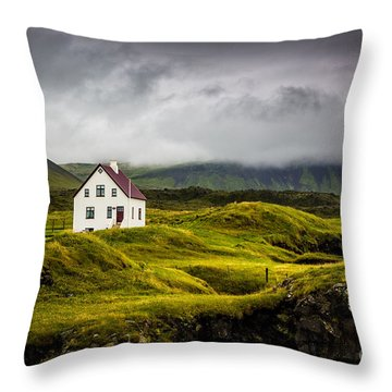 Iceland Scene Throw Pillow