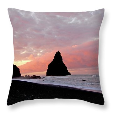 Iceland Sunrise Throw Pillow