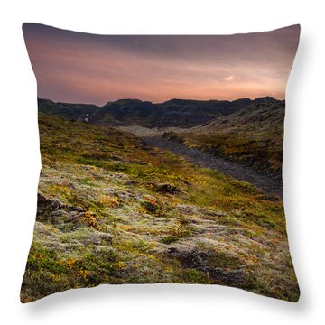 Iceland Sunset Throw Pillow by Chris McKenna