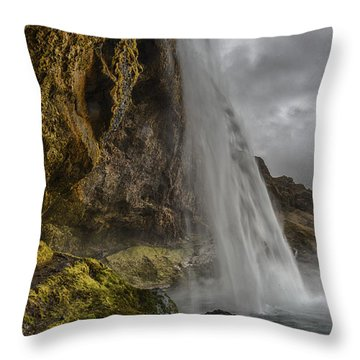 Iceland Waterfall Throw Pillow