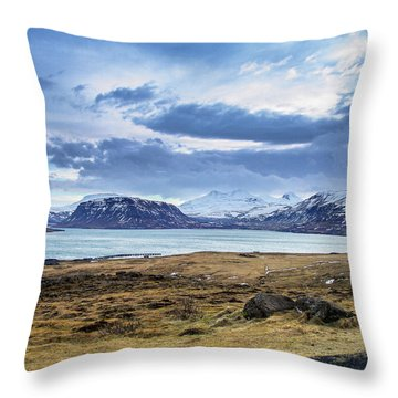 Icelandic Blues Throw Pillow