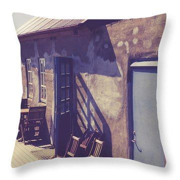 Throw Pillow featuring the photograph Icelandic Cafe by Edward Fielding