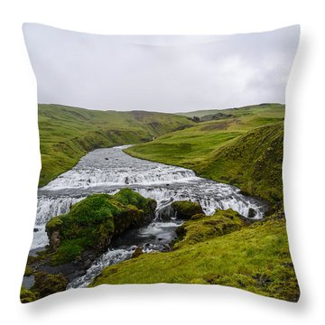 Icelandic Cascade Throw Pillow