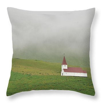 Icelandic Chapel Throw Pillow