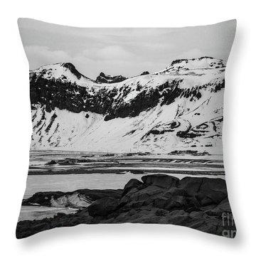 Icelandic Idyll Near Vik Throw Pillow